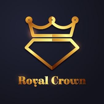 Concepto de logotipo de diamante elegante