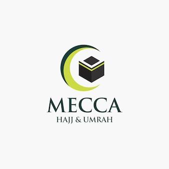 Concepto de logotipo hajj y umrah