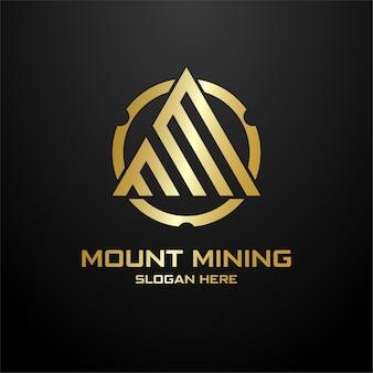 Concepto de logotipo inicial m