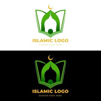 Concepto de logotipo islámico en dos colores.