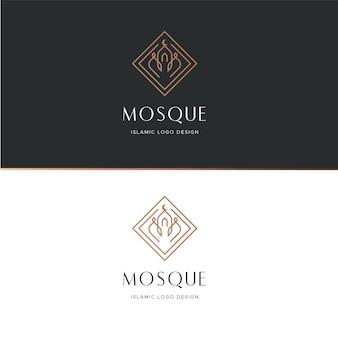 Concepto de logotipo islámico