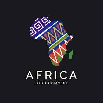 Concepto de logotipo de mapa de áfrica