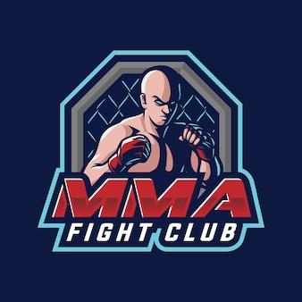 Concepto de logotipo de mma fight club