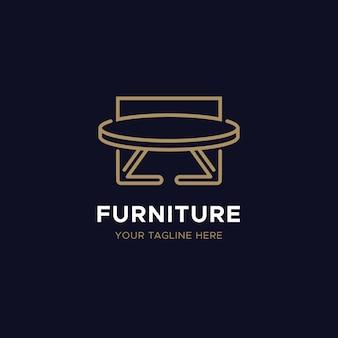 Concepto de logotipo de muebles elegantes