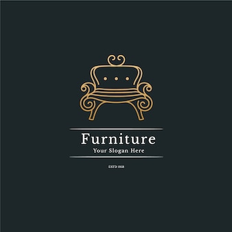 Concepto de logotipo de muebles elgant