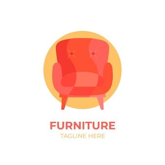 Concepto de logotipo de muebles