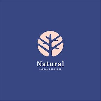 Concepto de logotipo de naturaleza de árbol cuadrado