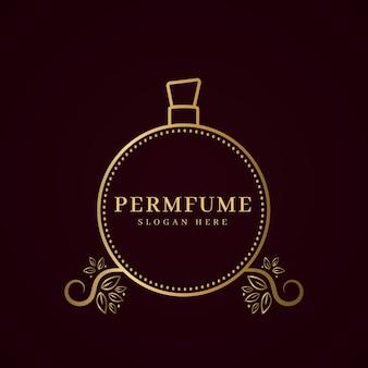Concepto de logotipo de perfume de lujo