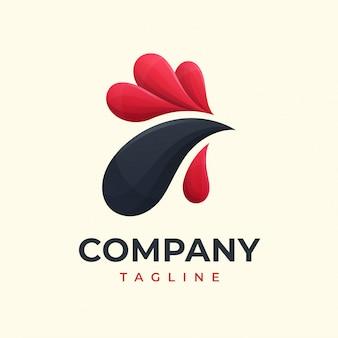 Concepto de logotipo de pollo