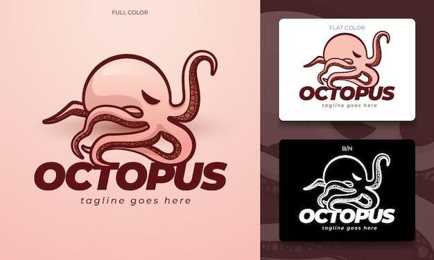 Concepto de logotipo de pulpo en vector editable