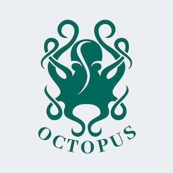Concepto de logotipo de pulpo
