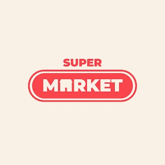 Concepto de logotipo de supermercado corporativo
