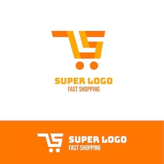 Concepto de logotipo de supermercado creativo