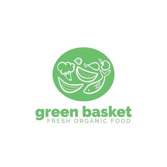 Concepto de logotipo de supermercado