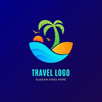 Concepto de logotipo de viaje detallado