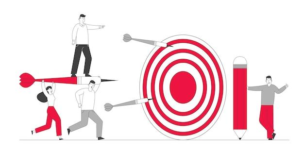 Concepto de logro de objetivos empresariales