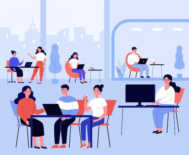 Concepto de lugar de trabajo conjunto