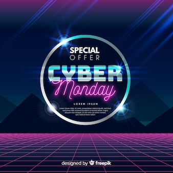 Concepto de lunes cibernético con antecedentes realistas