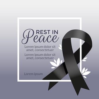 Concepto de luto por las víctimas