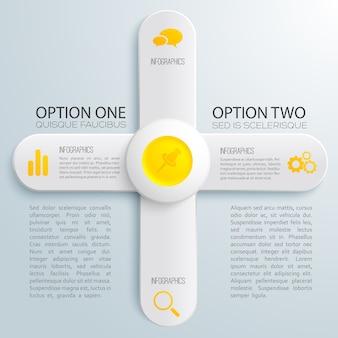 Concepto de luz de infografía