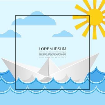 Concepto de luz de viaje por mar