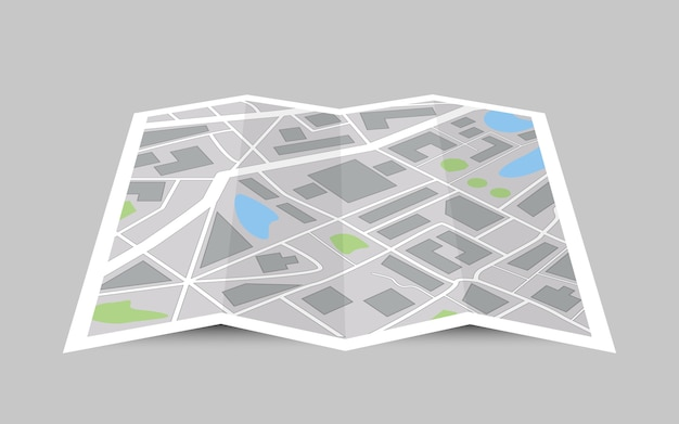 Concepto de mapa de la ciudad de perspectiva