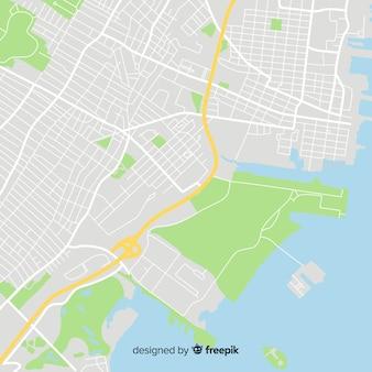 Concepto de mapa de la ciudad con ruta de calles