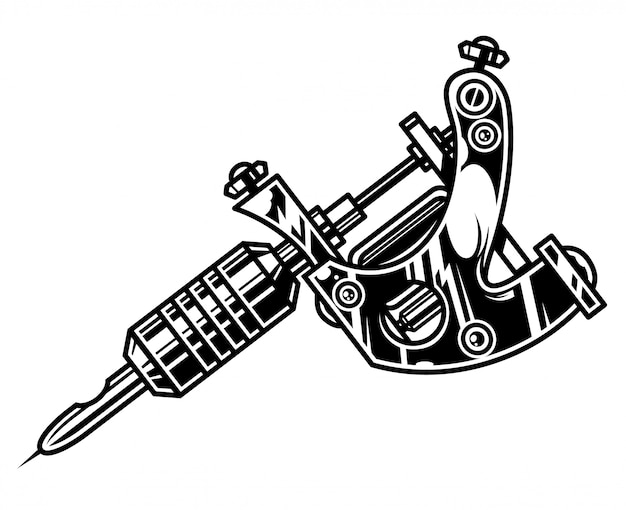 Concepto de máquina de tatuaje profesional