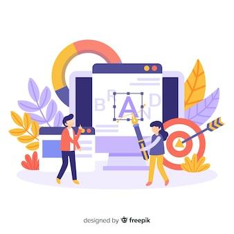 Concepto de marca para landing page