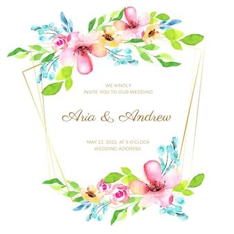 Concepto de marco de boda floral