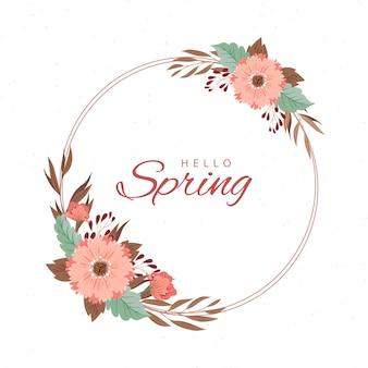 Concepto de marco floral de primavera