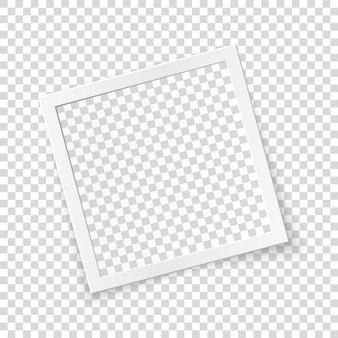 Concepto de marco de imagen girado, único objeto aislado sobre fondo transparente
