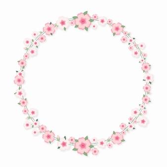 Concepto de marco de sakura