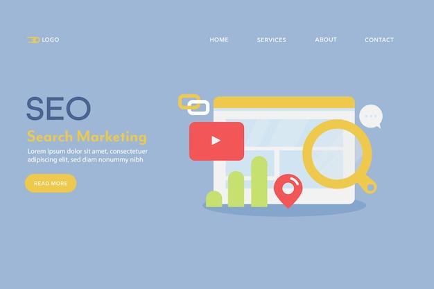 Concepto de marketing de búsqueda seo