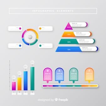 Concepto de marketing de colección de infografía