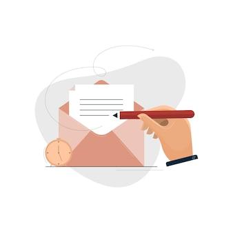 Concepto de marketing por correo electrónico y marketing digital