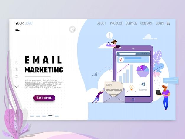 Concepto de marketing por correo electrónico.