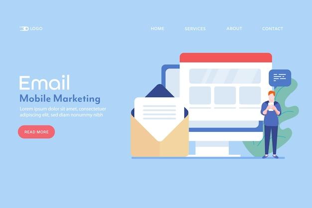 Concepto de marketing por correo electrónico