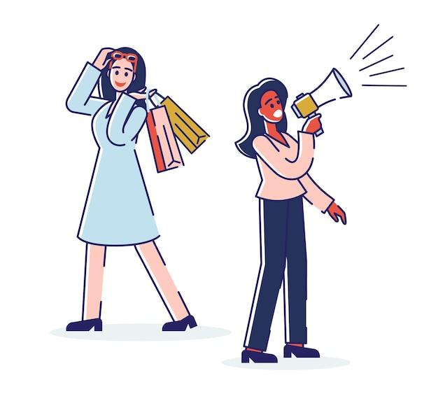 Concepto de marketing digital y compras online.