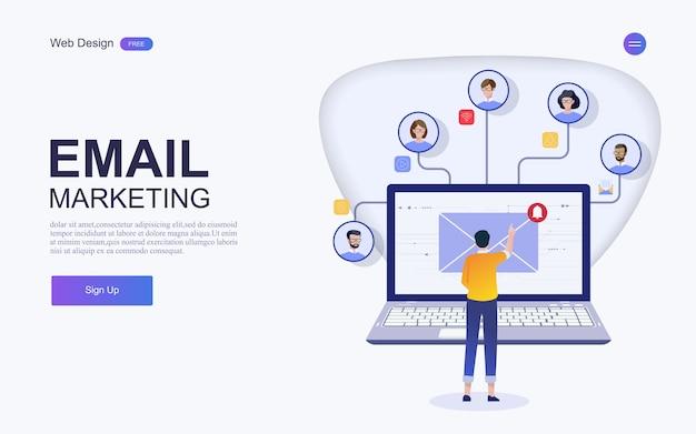 Concepto de marketing digital. ilustraciones de vectores.