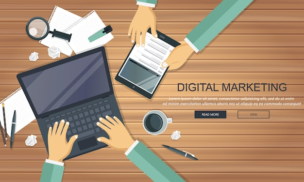 Concepto de marketing digital