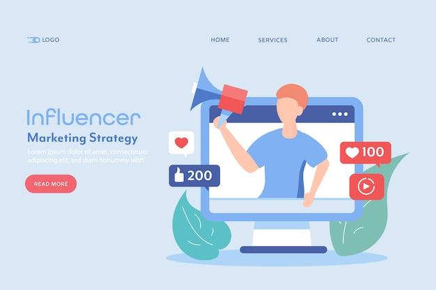 Concepto de marketing de influencers