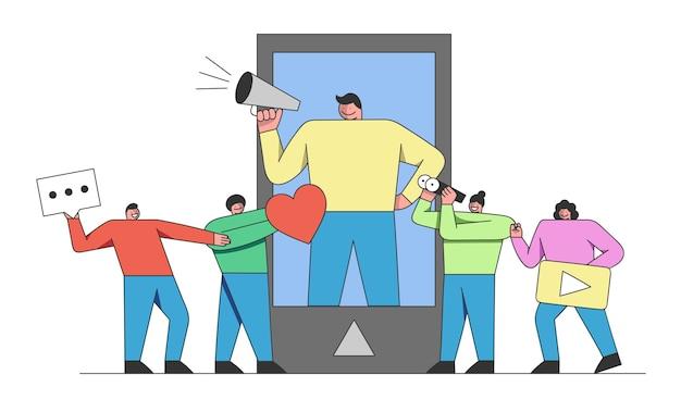 Concepto de marketing en redes sociales