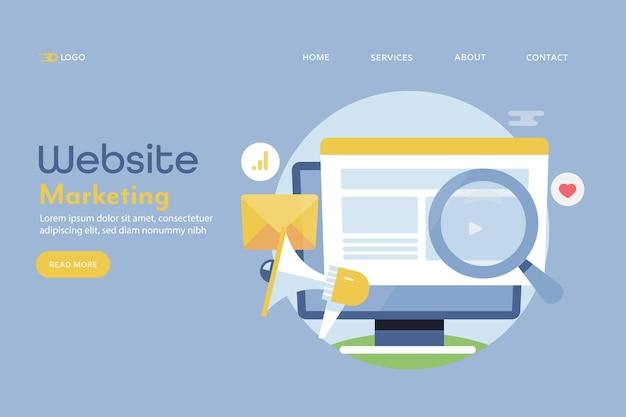 Concepto de marketing de sitios web