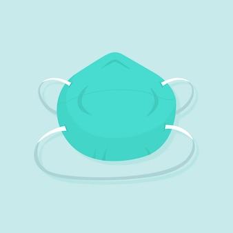 Concepto de máscara médica de diseño plano