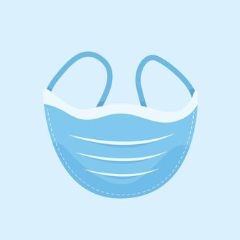 Concepto de máscara médica plana