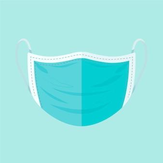 Concepto de máscara quirúrgica plana