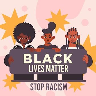 Concepto de materia de vidas negras