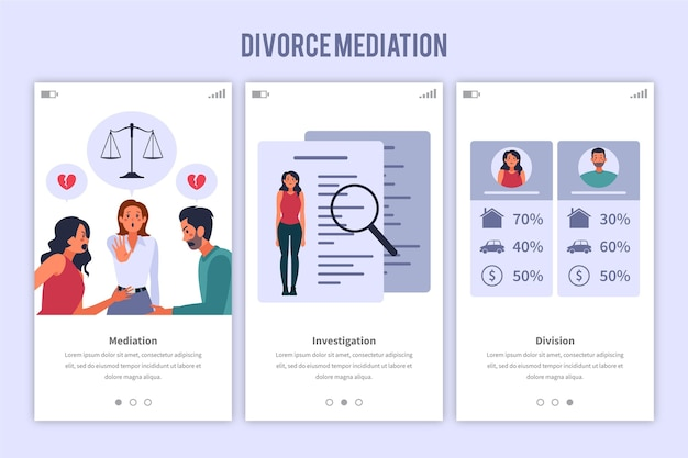 Concepto de mediación de divorcio