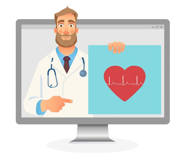 Concepto de medicina en línea